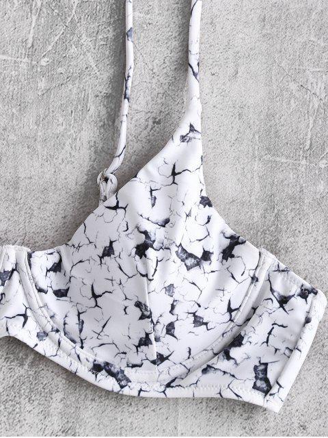 ZAFUL Bikini Marbré à Armature - Blanc L Mobile