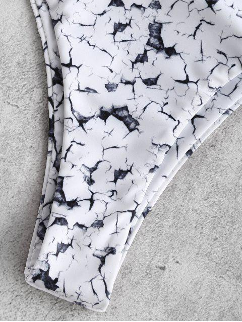 fancy ZAFUL Marble Underwire Bikini - WHITE L Mobile