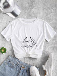 ZAFUL لفتة الجرافيك المحملة - أبيض S