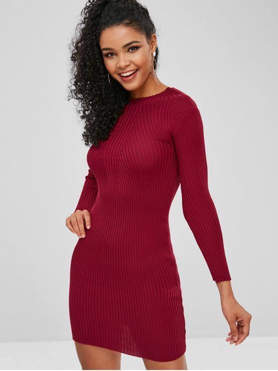 sale Bodycon Knit Dress - RED WINE ONE SIZE