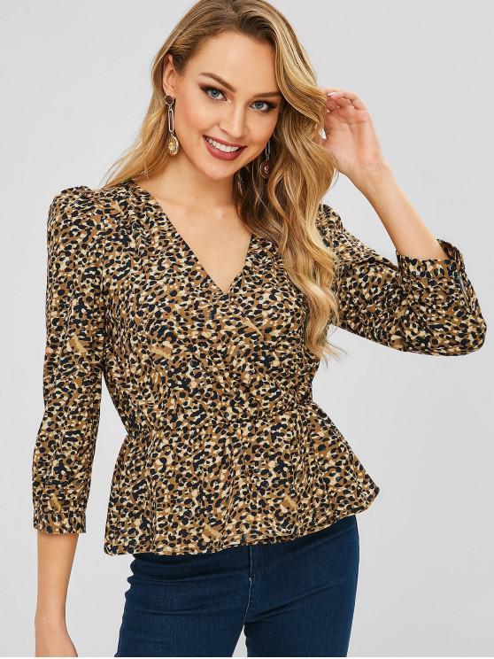 Blusa de leopardo - Amarilla de Abeja  L