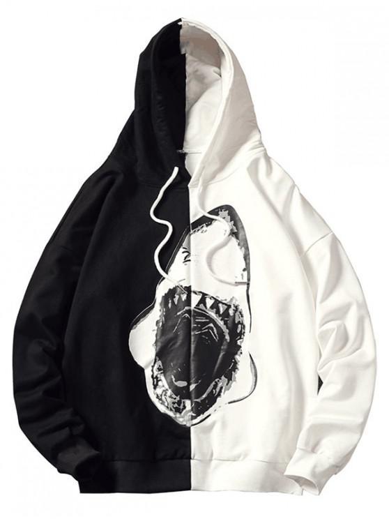Sudadera con capucha Shark Color Block - Negro S
