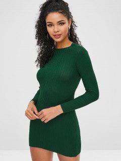 Bodycon Knit Dress - Medium Sea Green