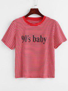 Camiseta Estampada A Rayas De Cuadros - Multicolor M