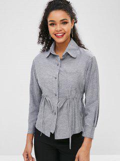 Chemise Boutonnée Avec Cordon à La Taille - Gris M