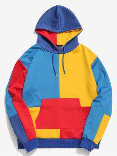 ZAFUL Color Block Pocket Hoodie - Multicolor L