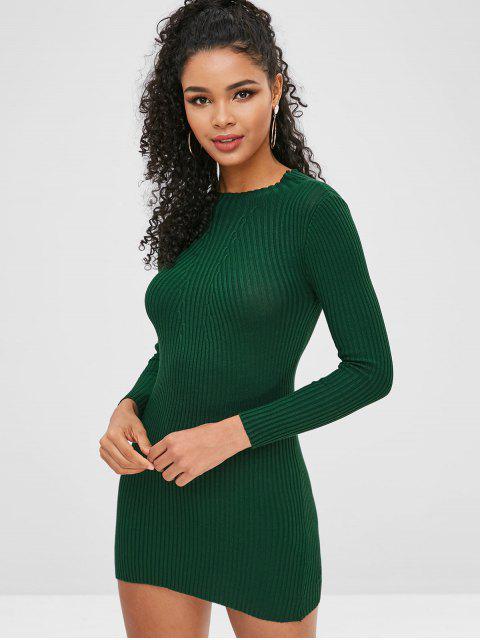 buy Bodycon Knit Dress - MEDIUM SEA GREEN ONE SIZE Mobile
