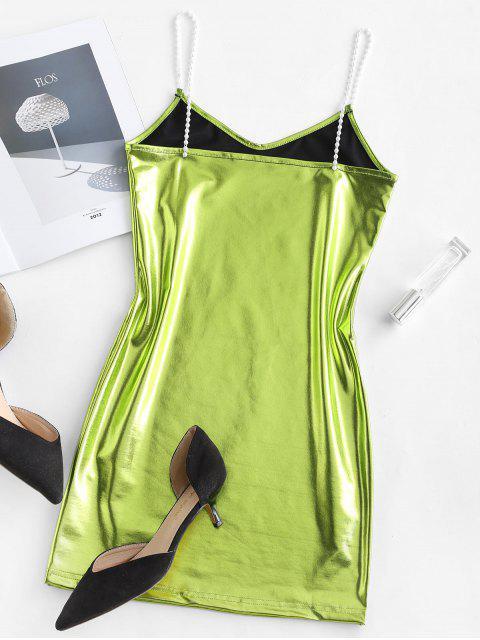 Mini Robe de Soirée Camouflage Métallisée - Vert de Salade S Mobile