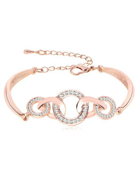 online Rhinestoned Loops Design Alloy Bracelet - ROSE GOLD  Mobile