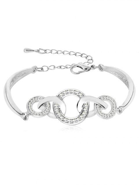Strass-Loops Design Legierung Armband - Silber  Mobile