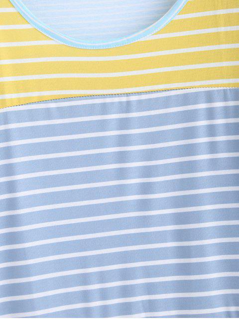 women's Striped Tunic Drop Shoulder Tee - MULTI-A S Mobile