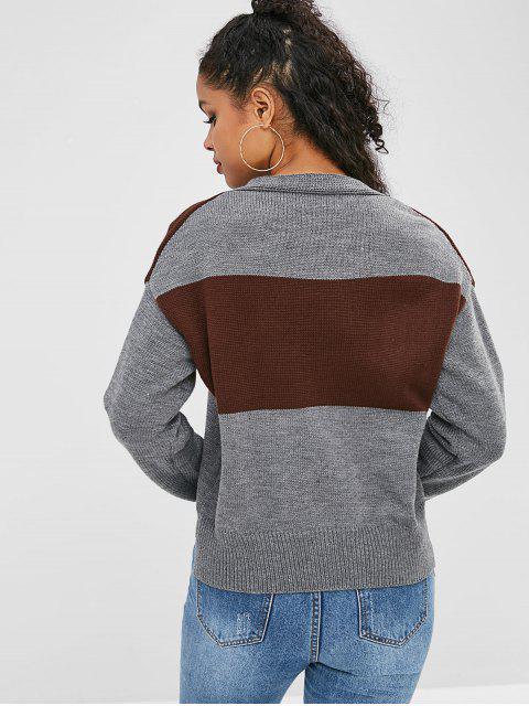 Pull Haut Bas à Col V - Multi Taille Unique Mobile