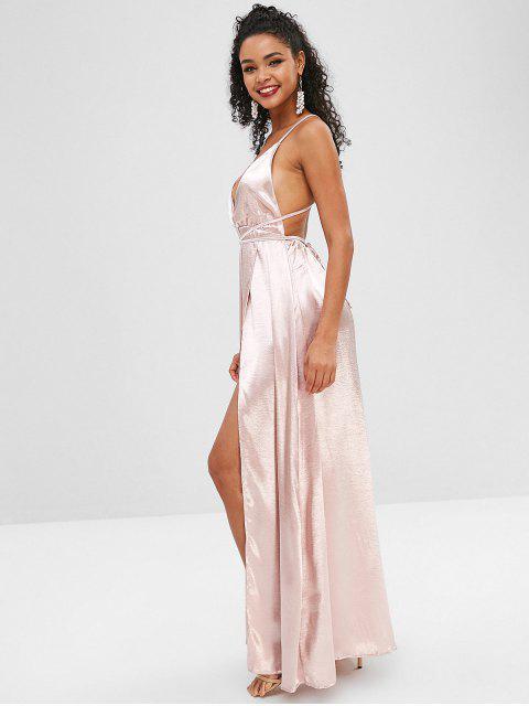 Robe Superposée Plongeante au Dos Nu - Cerisier Rose M Mobile