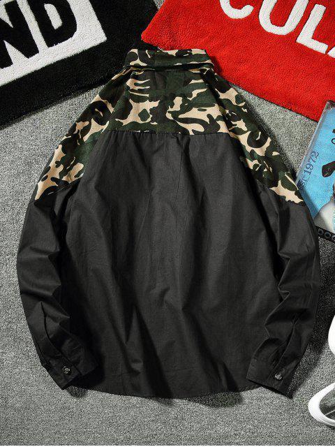 Haut Camouflage avec Poche Poitrine - Noir 2XL Mobile