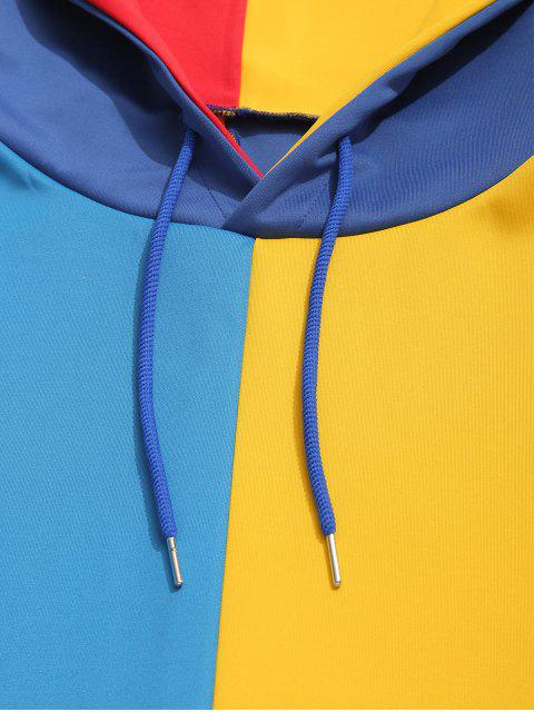 womens ZAFUL Color Block Pocket Hoodie - MULTI 2XL Mobile