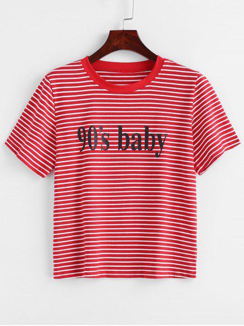 fancy Striped Boxy Graphic T-Shirt - MULTI M Mobile