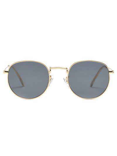 68b0a9d0f0 ... Unique Metal Full Frame Flat Lens Sunglasses - Taupe HOT