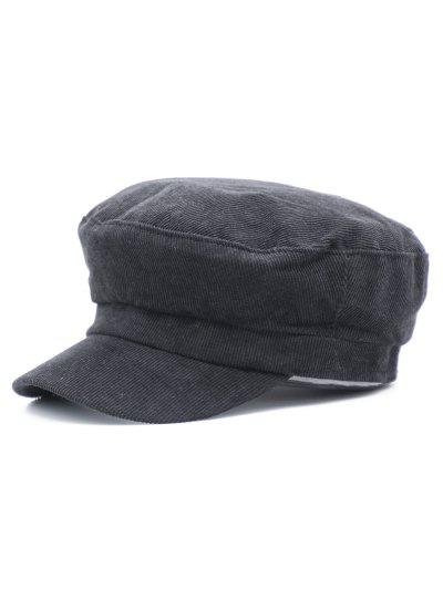 Corduroy Solid Color Newsboy Hat