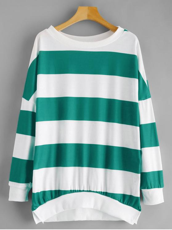 0d4f0393550 31% OFF] 2019 Oversized Drop Shoulder Stripes Sweatshirt In MULTI-A ...
