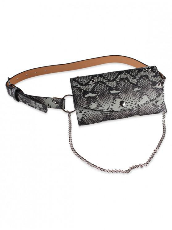 4ae567b42 32% OFF] 2019 Pin Fanny Pack Embellished Chain Belt Bag In DARK SEA ...