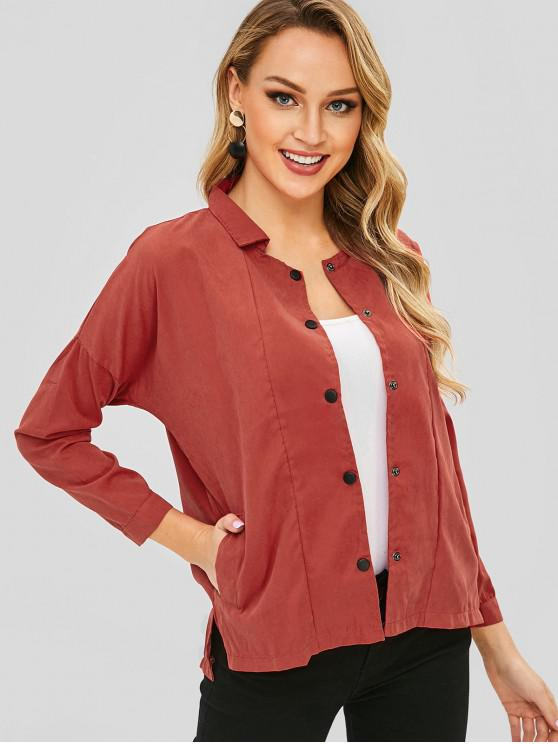 High Low Solid Jacke - Valentinstag Rot XL