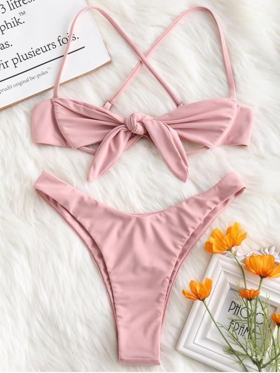 eaea2a2d76d89 43% OFF] [POPULAR] 2019 ZAFUL Underwire Tied Cut Out Bikini Set In ...