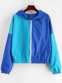 ZAFUL Veste Coupe-vent Bicolore Zip Up - Bleu De Soie L