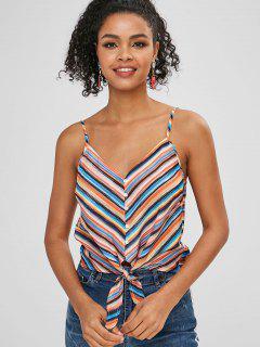 Camisola De Rayas Con Botones - Multicolor-a S