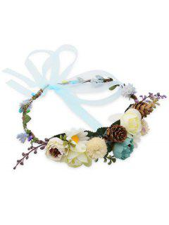 Elegant Flourishing Floral Bridal Hair Hoop - Multi