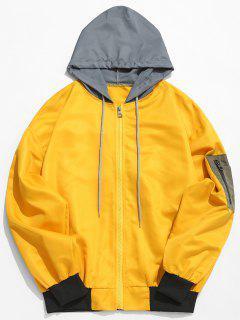 Color Block Sunproof Lightweight Jacket - Yellow M