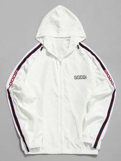 Side Letter Stripe Sunproof Jacket - White 2xl