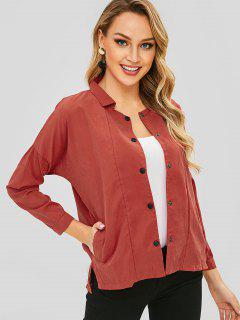 High Low Solid Jacket - Valentine Red M