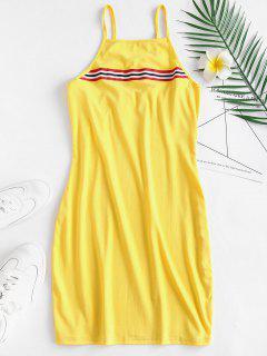 Mini Vestido De Rayas De Cami - Amarillo S