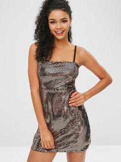 Sequins Party Dress - Champagne Gold L