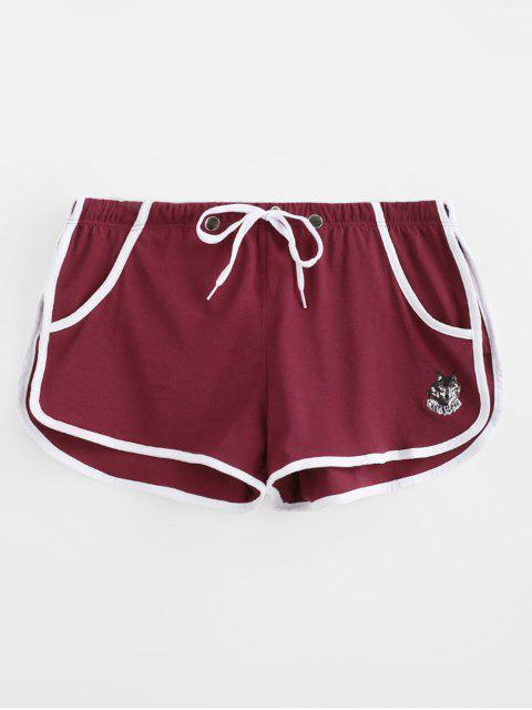 Abnehmbare Tasche Sport Shorts - Roter Wein L Mobile
