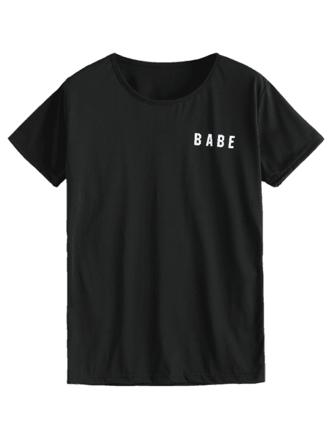 outfits Babe Graphic Tee - BLACK S Mobile