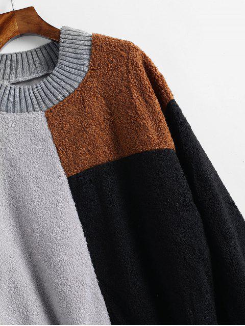 Sweat-shirt en Blocs de Couleurs en Laine - Multi Taille Unique Mobile