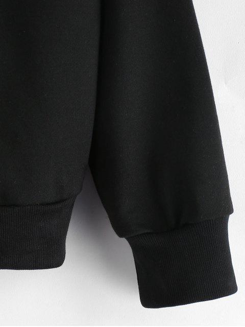 shop ZAFUL Color Block Half Zip Hoodie - WHITE L Mobile