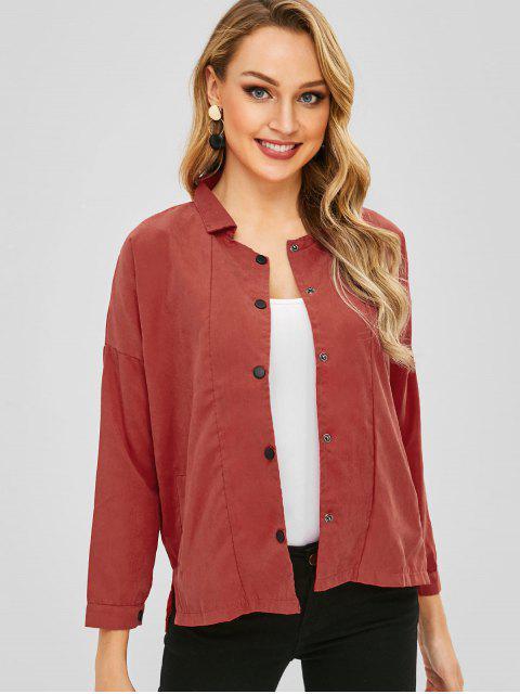 Veste Haute Basse en Couleur Unie - Rouge Saint-Valentin XL Mobile