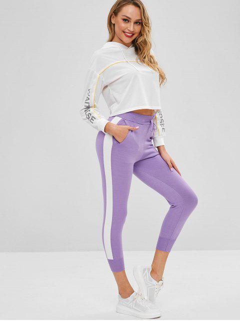 best Drawstring Knit Pants - PURPLE MIMOSA ONE SIZE Mobile