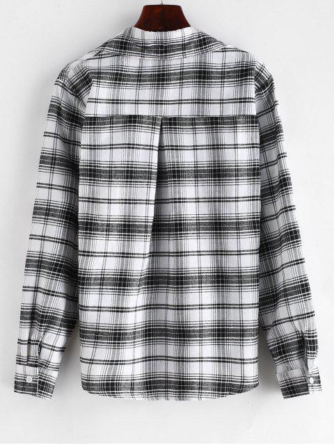 Chemise à Carreaux avec Poches à Rabat - Multi S Mobile