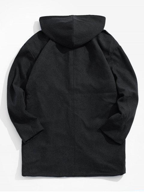 Manteau à Capuche avec Bouton Caché - Noir M Mobile