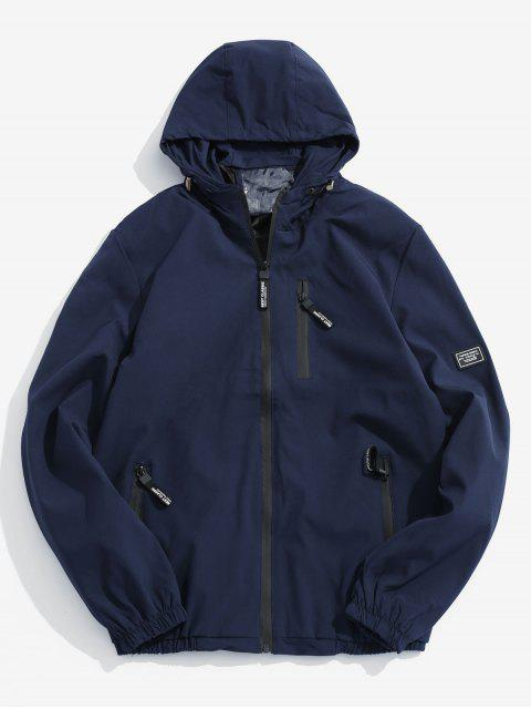 Veste à Capuche Applique Zippée - Cadetblue S Mobile