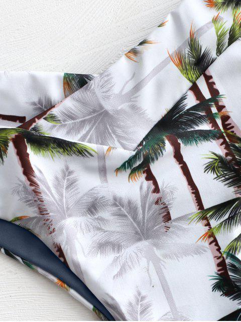 Bikini Tube Arbre Noix de Coco à Coupe Haute - Ardoise grise M Mobile