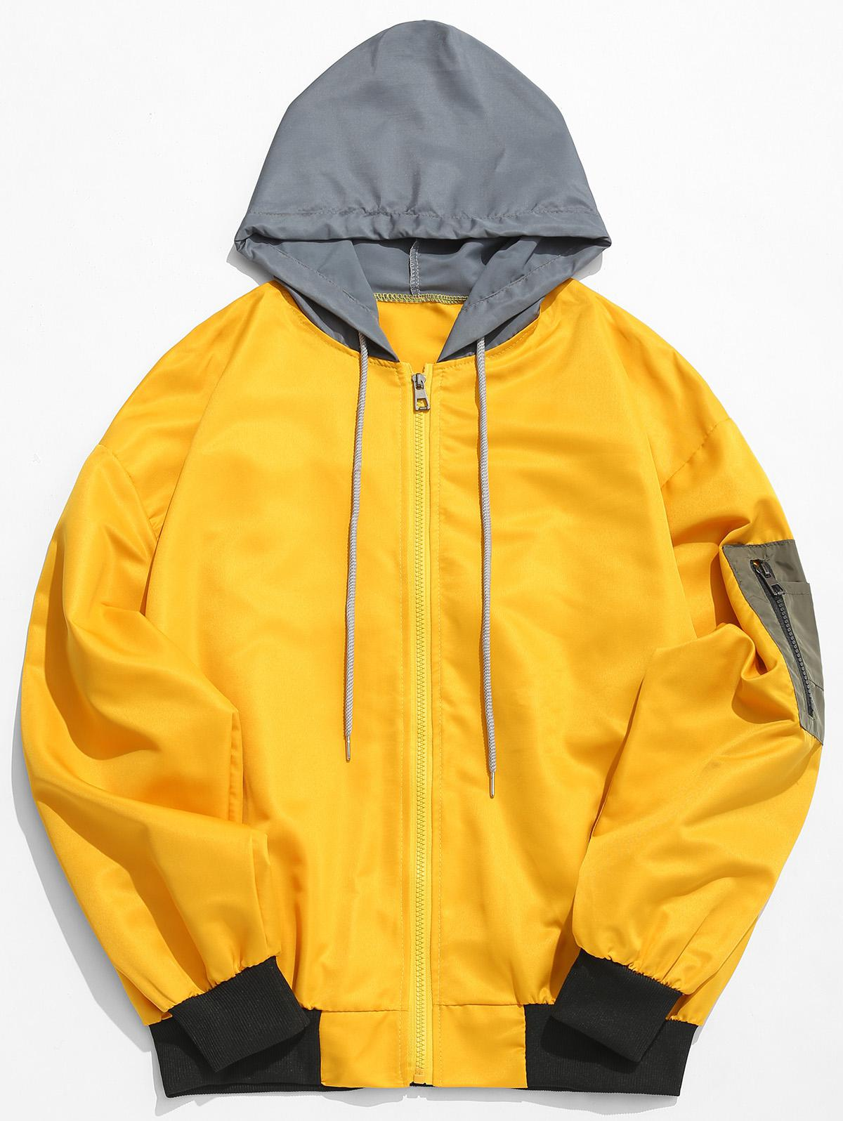 Color Block Sunproof Lightweight Jacket