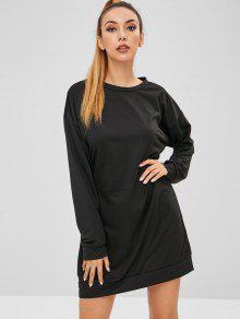 فستان بكتف واحد - أسود S