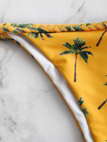 2f4eed9de3 ... ZAFUL Coconut Palm Braided String Bikini Set. shops ZAFUL Coconut Palm  Braided String Bikini Set - BEE YELLOW S