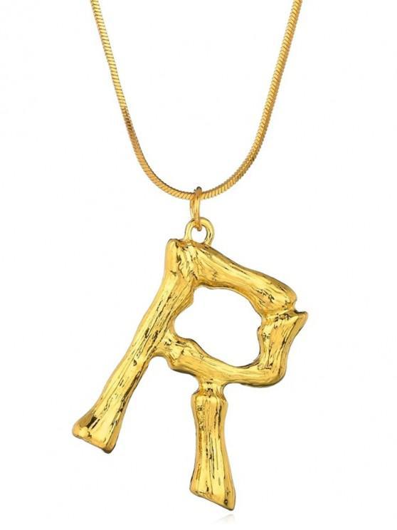 chic unique personalized sideways letter r necklace gold