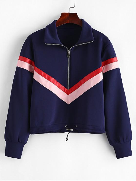 shops Zig Zag Zipper Sweatshirt - CADETBLUE S