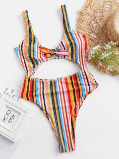 ZAFUL Traje De Baño A Rayas Recortado De Rayas De Colores - Multicolor-a M